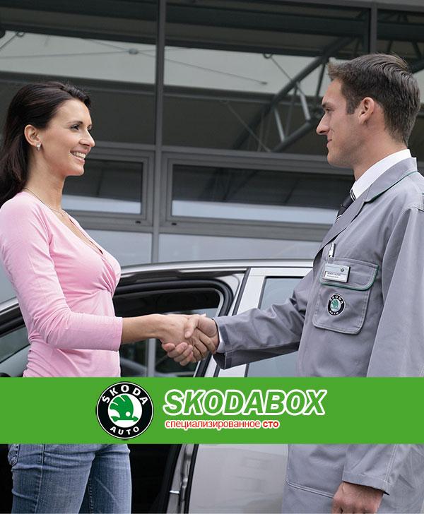 Создание сайта визитки харьковскому СТО SkodaBox