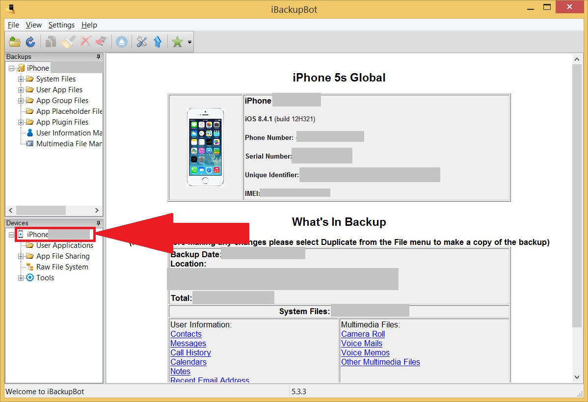 Проверка батареи iPhone и iPad - Нажимаем на устройство