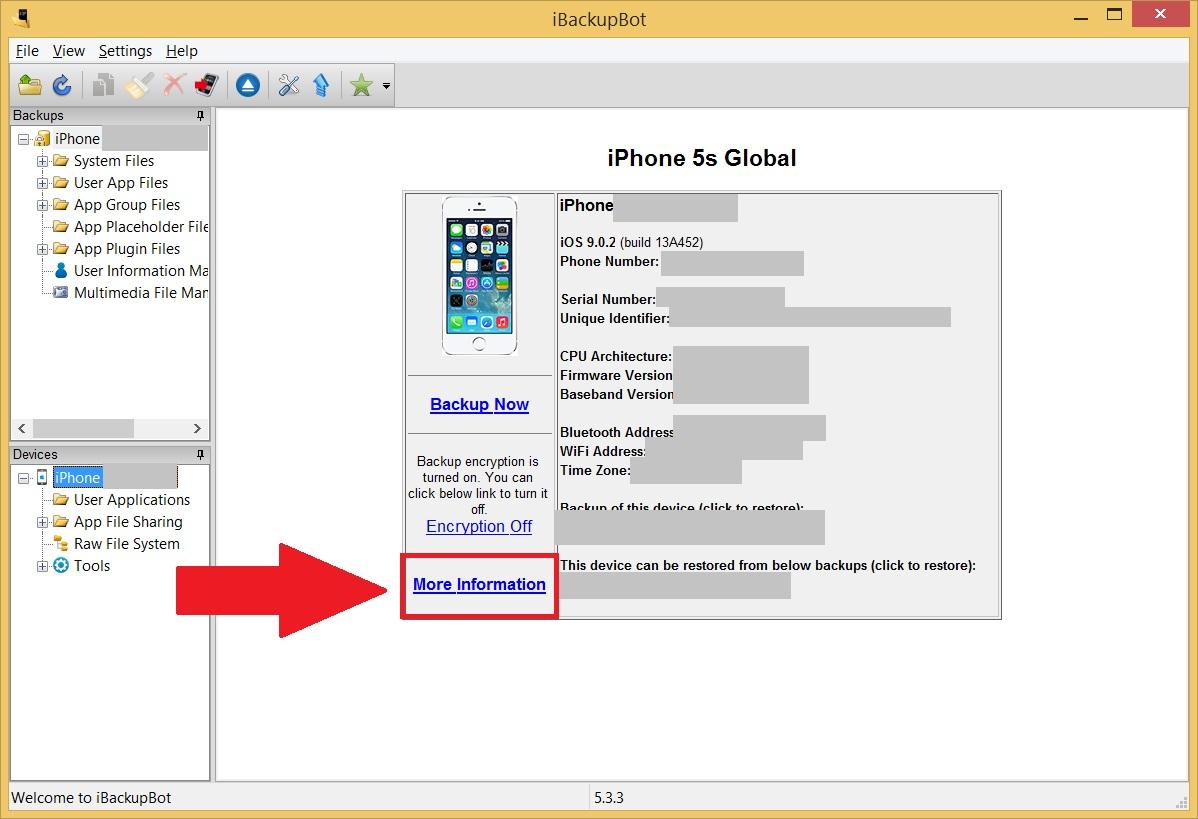 Проверка батареи iPhone и iPad - Нажимаем More Info