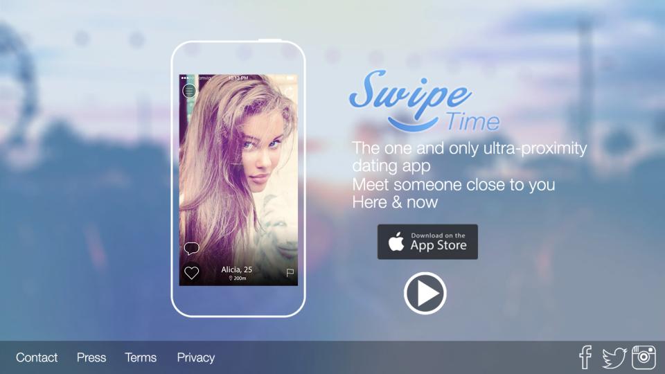 Английская версия - Landing Page для французского приложения SwipeTime