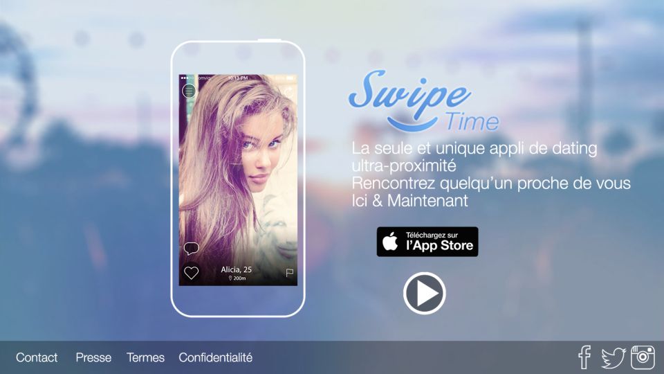 Французская версия - Landing Page для французского приложения SwipeTime
