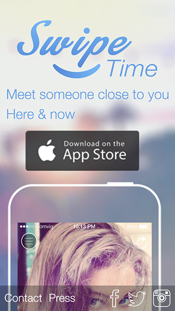 Мобильная версия - Landing Page для французского приложения SwipeTime