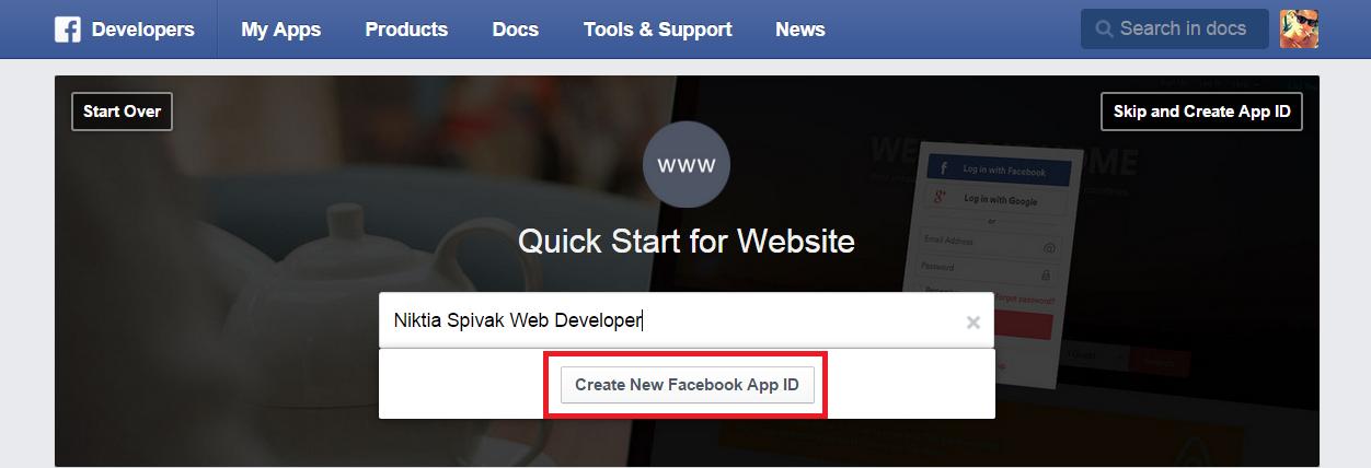 Создание приложений для авторизации через социальные сети - Facebook 3
