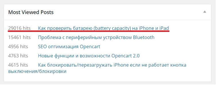 """Статистика записи """"Как проверить батарею iPhone и iPad"""""""