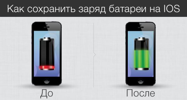 Как сохранить заряд батареи на iPhone и iPad
