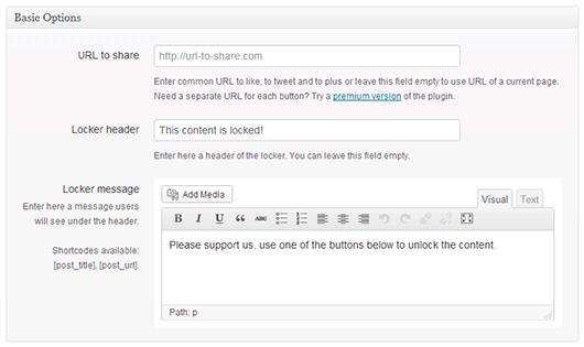 Создаем блокировщик используя One Press Social Locker для WordPress
